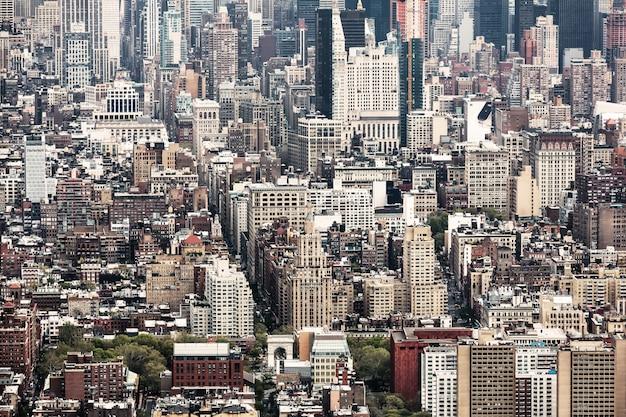 Vista del centro de manhattan de nueva york