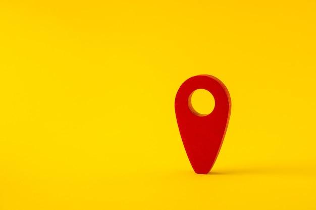 Vista de cerca de la aplicación de ruta gps de punto rojo