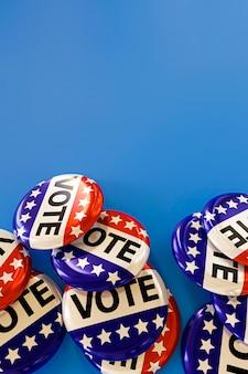Vista cercana del concepto de elecciones de estados unidos