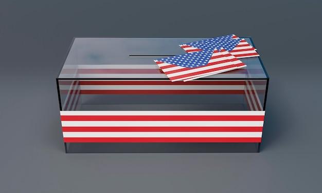 Vista cercana del concepto de elecciones estadounidenses