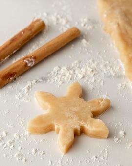 Vista cercana de deliciosas galletas