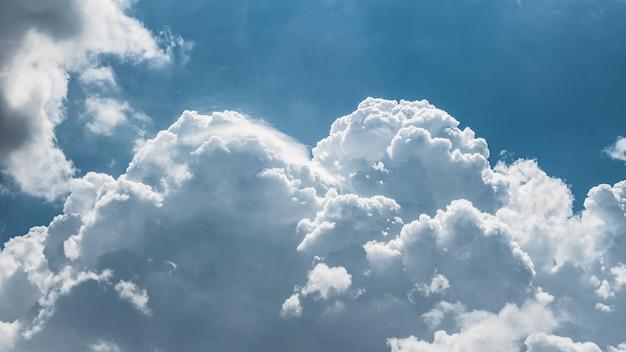 Vista cercana de las nubes