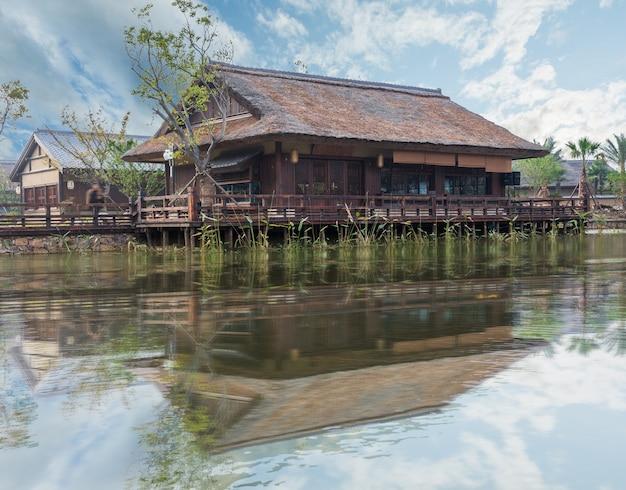 Vista desde la ciudad de agua de gubei