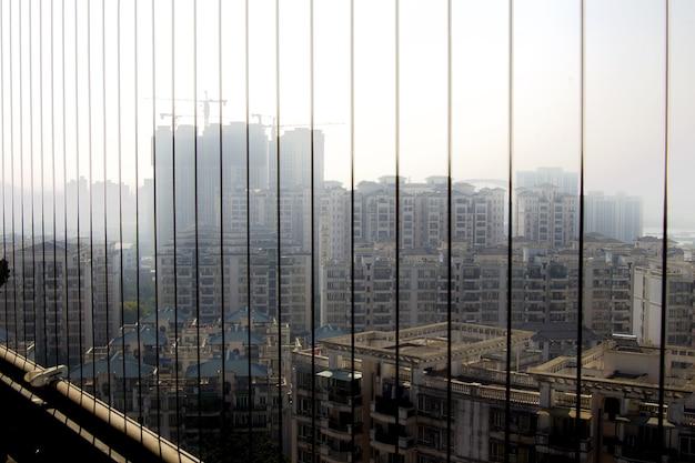 Vista de la ciudad en china
