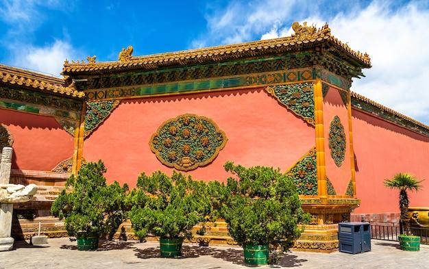 Vista de la ciudad prohibida en beijing, china