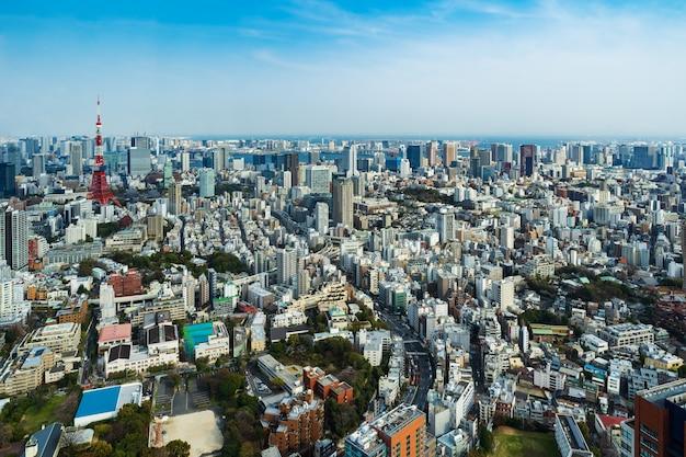 Vista de la ciudad de tokio, japón