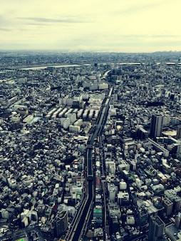 Vista del paisaje urbano sceneric urban downtown