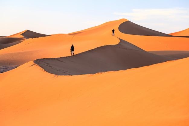 Vista del desierto del sahara en marruecos