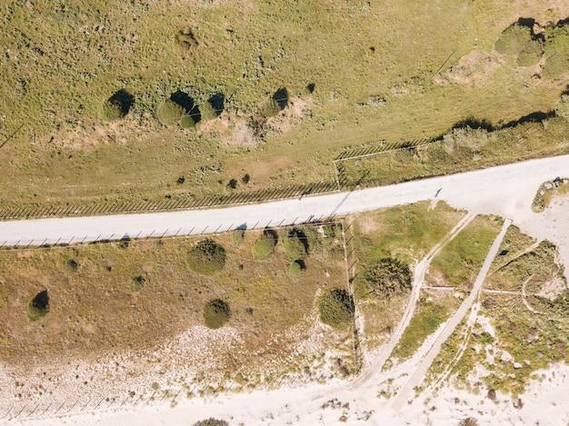Vista de drone de carretera