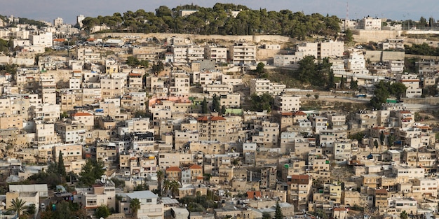 Vista de edificios en jerusalén, israel