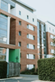 Vista exterior del moderno apartamento inglés.