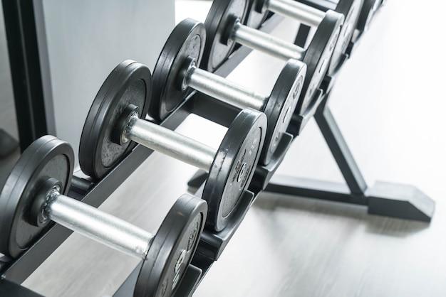 Vista de filas de pesas