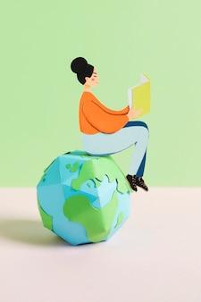 Vista frontal del concepto del día de la educación
