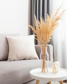 Vista frontal del concepto de diseño de habitación interior