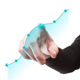 Vista frontal del concepto de economía