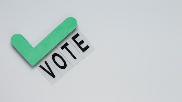 Vista frontal del concepto de elecciones con espacio de copia