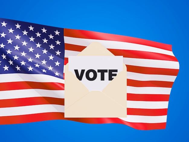Vista frontal del concepto de elecciones de estados unidos