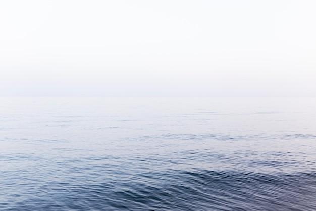 Vista frontal del hermoso mar