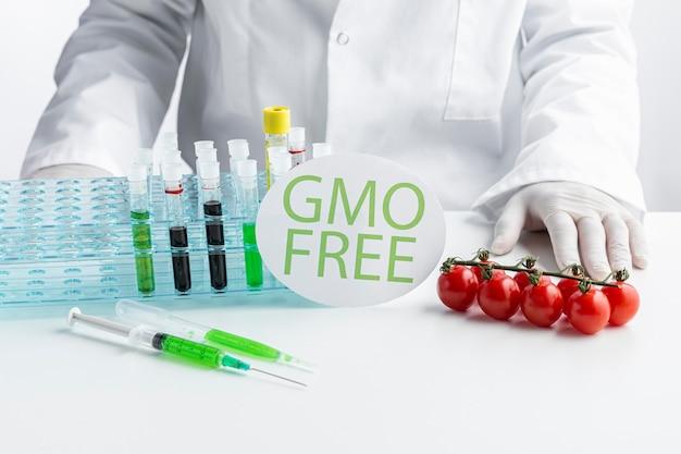 Vista frontal libre modificada genéticamente de tomates cherry