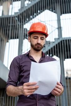 Vista frontal del plan de lectura del constructor
