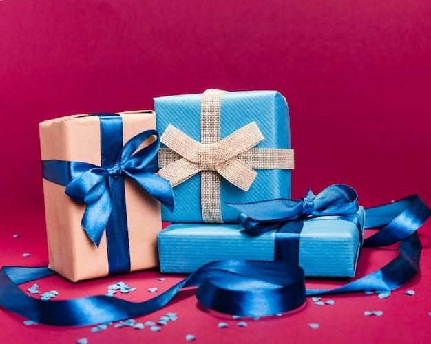 Vista frontal regalos del día del padre