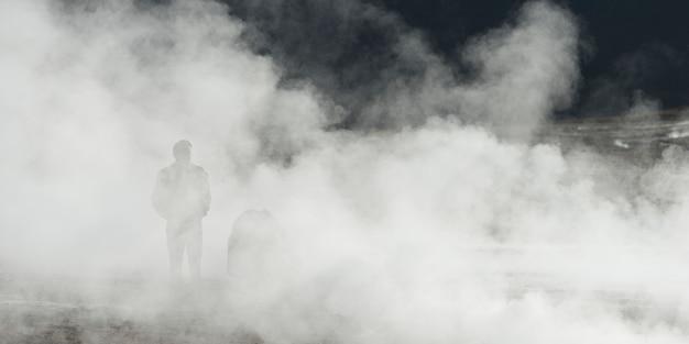 Vista del géiser el tatio, san pedro de atacama, provincia de el loa, región de antofagasta, chile