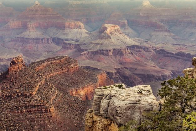 Vista del gran cañón, arizona, ee.uu.