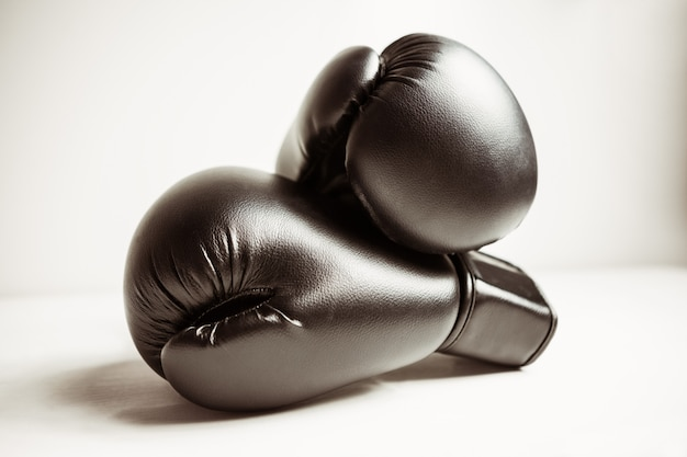 Vista de guantes de boxeo