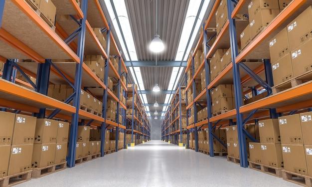 Vista interior de almacén
