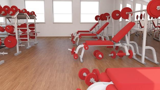 Vista interior de un gimnasio.