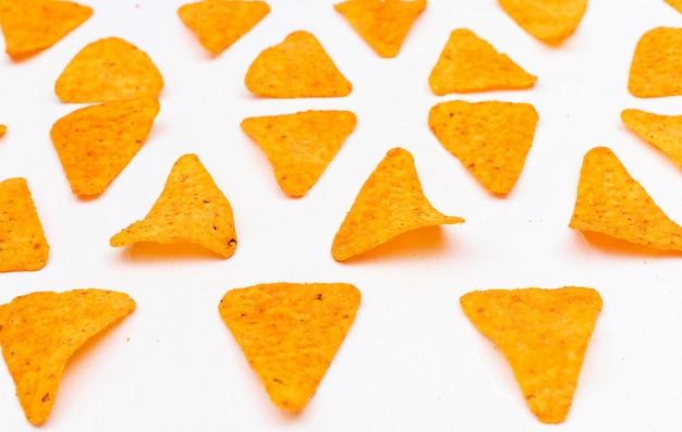 Vista lateral chips patrón horizontal