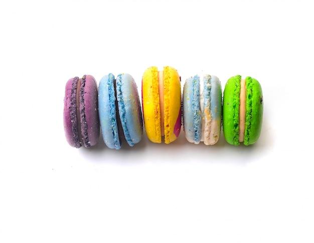 Vista de macarons a color