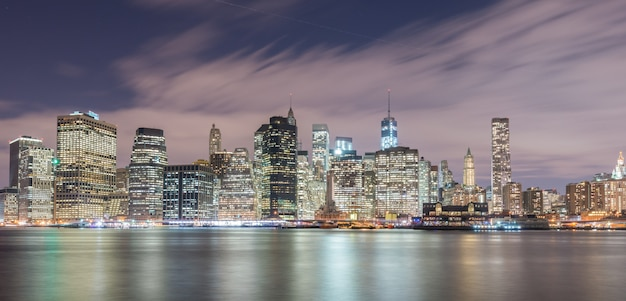 Vista del bajo manhattan desde brooklyn