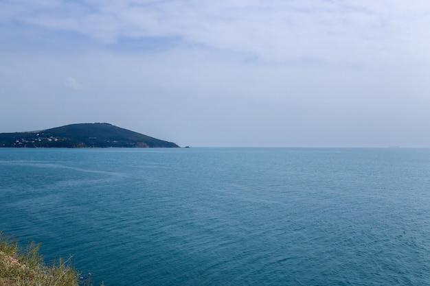 Vista del mar de mármara en estambul. pavo
