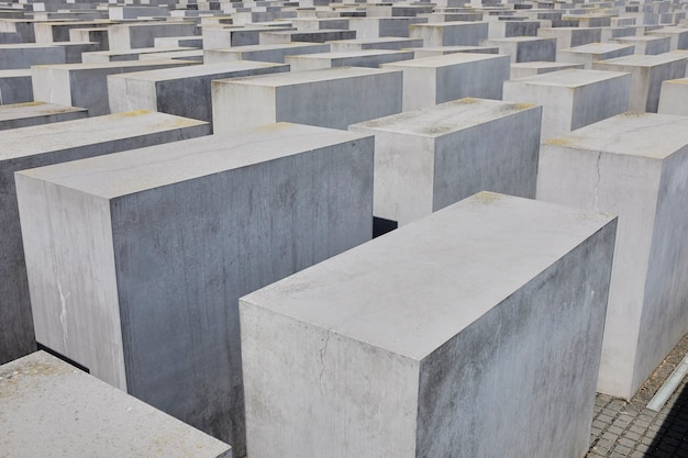 Vista del memorial del holocausto judío, berlín