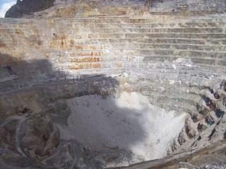 Vista mina de oro