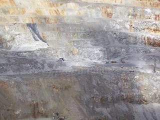 Vista de las minas de oro, minería