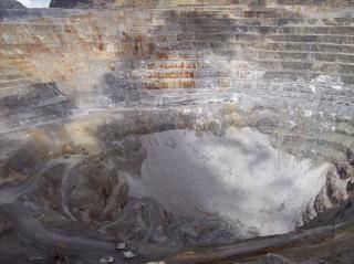 Vista de las minas de oro, el rock
