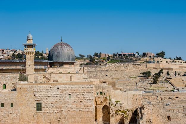 Vista del muro de las lamentaciones en jerusalén.