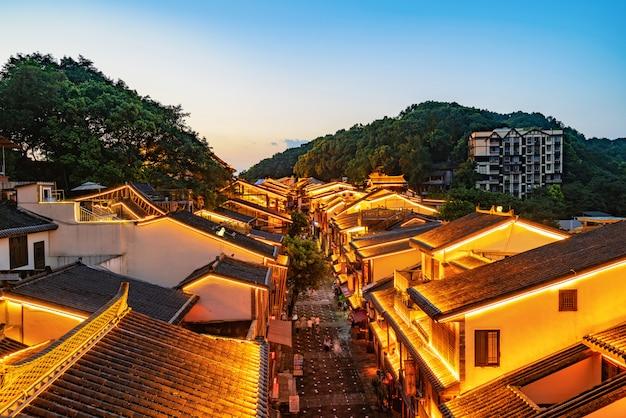 Vista nocturna de las calles de la ciudad de chongqing