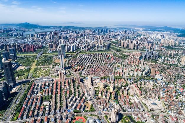 Una vista de ojo de pájaro de shanghai