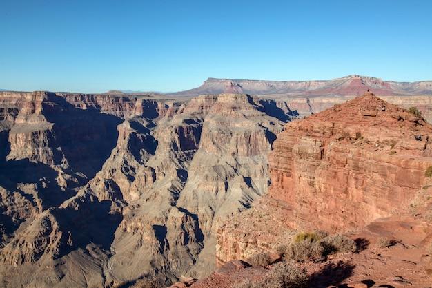 Vista del paisaje en el parque nacional del gran cañón en estados unidos