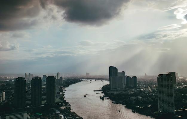 Vista del paisaje urbano paisaje centro de la ciudad