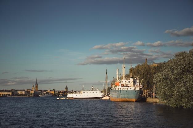 Vista del paisaje urbano. paisajes de estocolmo, suecia.