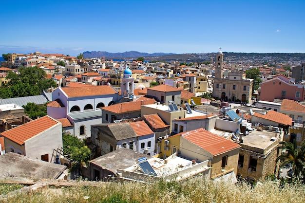 Vista panorámica de la ciudad de chania. isla de creta. grecia.