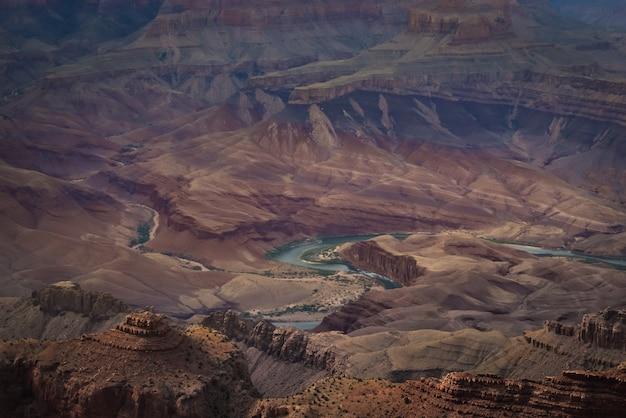 Vista panorámica del gran cañón