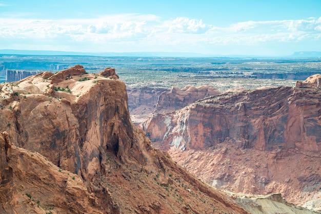 Una vista panorámica en el parque nacional canyonlands en utah