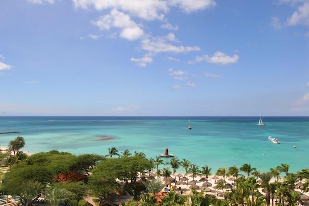 Vista a la playa del paraíso