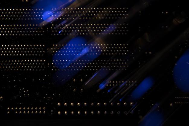 Vista posterior del conmutador de red