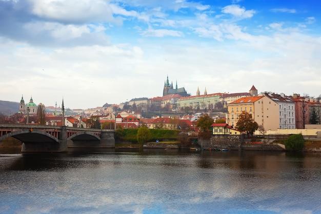 Vista de praga. chequia